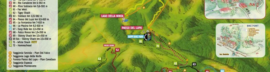 Cimone Bikepark Trail map